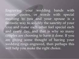 wedding quotes engraving what you should about getting your wedding ring engraved