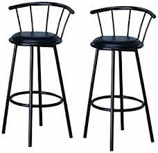 Bar Stool Chairs With Backs Amazon Com Btexpert Swivel Dining Bar Stool Chairs With Footrest