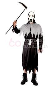 Grim Reaper Halloween Costumes Mens Grim Reaper Deluxe Men Halloween Costume Fancy Dress Party Dress