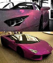 lamborghini aventador with pink galaxy paint wow love the car