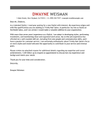 best stylist cover letter examples livecareer cover letter example