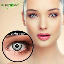 white contacts halloween crazy contact lenses design white fear