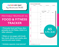 printable menu planner template a5 filofax food and fitness planner inserts printable meal zoom