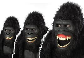 Scary Mask Going Ape Ani Motion Scary Mask Costume Craze