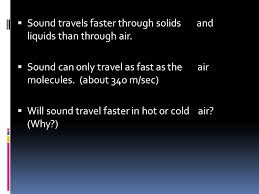 how fast does sound travel in air images Chapter 16 sound sound waves are longitudinal waves with jpg