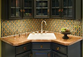 Kitchen Sink Details Decorating Modern Style Corner Kitchen Sink With Beautiful Colors