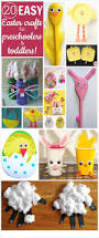 20 easy easter crafts for preschoolers and toddlers