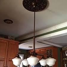 Schoolhouse Chandelier Features 4 Light Indoor Convertible Chandelier Semi Flush