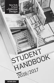 nysid student handbook 2016 2017 by new york of interior