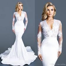 custom made wedding dresses white modest wedding dresses sleeves lace v neck bridal gown