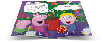 peppa pig christmas book large hardcover