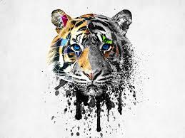 blue watercolor tiger design watercolor tiger tiger
