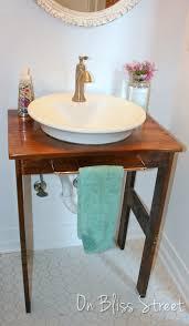 Bathroom Vanity For Vessel Sink On Bliss Street Diy Bathroom Vanity From One Board On Bliss Street