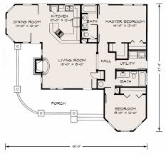 Open Floor Plans Small Homes Houseplans Com Cottage Main Floor Plan Plan 140 133 Without Extra