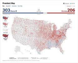 visualization of the week forecasting visualization of the week the voting shift from 2008 to 2012 o