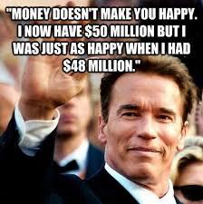 Arnold Schwarzenegger Memes - arnold schwarzenegger millionaire and happy giantgag