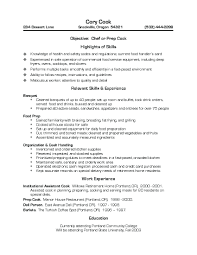 resume sample for chef sample pastry chef resume converza co