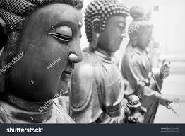 statues ancient gods buddha avalokitasvara stand stock photo
