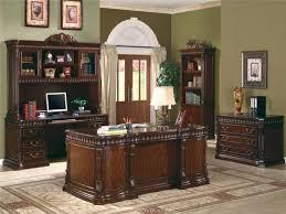 orleans furniture executive desk with computer storage credenza