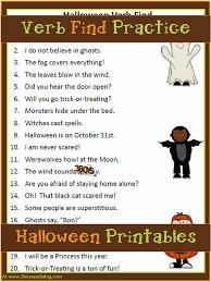 halloween printables finding verbs u2013 3 boys and a dog