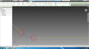 joining two lines straight and fillet in inventor 2013