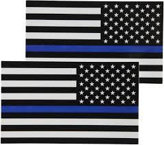 Blue White And Black Flag Reverse Thin Blue Line Flag Decal Backward Finelineflag
