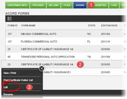 send an acord form to multiple certificate holders