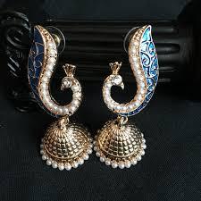 Chandelier Earrings India India Jhumka Earrings Alloy Electroplating Artificial