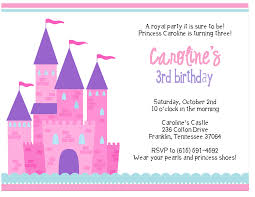 Birthday Invitation Card Maker 3rd Princess Birthday Invitations Free Invitations Ideas