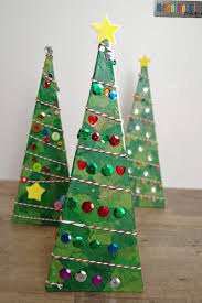 3 d pyramid christmas tree craft