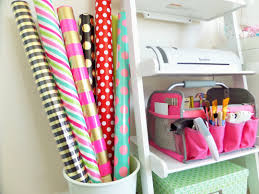 gift wrap storage ideas gift wrap craft station organization be my guest with
