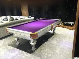 purple felt pool table custom pool tables billiards refurbished custom pool table custom