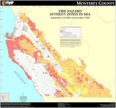County Map Of California Cal Fire Monterey County Fhsz Map