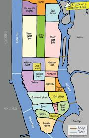 Printable Map Of New York City by Nyc Manhattan Neighborhood Map