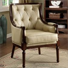Faux Leather Accent Chair Style Tuft Faux Leather Accent Chair By Enitial Lab