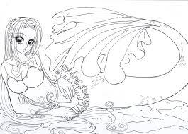 mermaid colour me by resiove on deviantart syrene pinterest