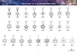 anniversary ornament swarovski 2016 annual edition ornament snowflake 25th