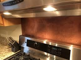 Copper Backsplash Kitchen Rustic Brown Copper Backsplash