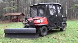 kubota rtv curtis plow v4208 4 way hydraulic conversion youtube