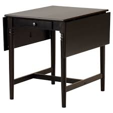 Pine Drop Leaf Table Ingatorp Drop Leaf Table Black Brown 59 88 117x78 Cm Ikea