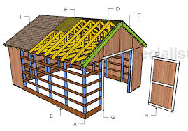 pole barn plans 16x20 pole barn roof plans howtospecialist how to build step by
