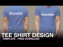 phlearn tee shirt design template youtube