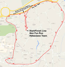 Map Run Route by The Black Country Family Fun Run Route