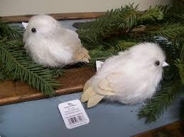 set 2 raz imports 5 sparkle glitter feather white bird