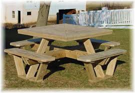 Plans For Building A Wood Picnic Table by Stunning Square Picnic Table Square Picnic Table Plans Free