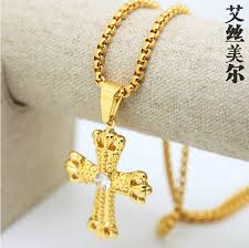 gold cross necklace pendants images Gold plated cross necklace images jpg