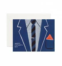 father u0027s day suit greeting card by rifle paper co made in usa