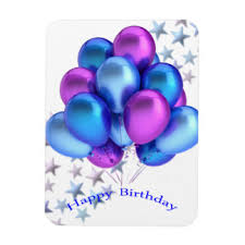 birthday balloons for him happy birthday balloons for kids refrigerator magnets zazzle