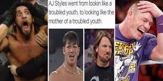 Aj Styles Memes - 15 wicked wwe memes only true fans will understand release mama