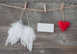 wings with and blank note stock image image of